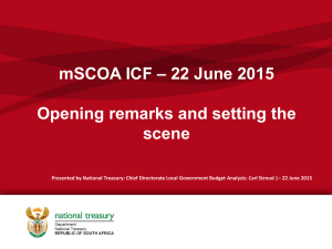 Opening remarks and setting the scene_22 June 2015