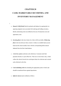 20. Cash, Marketable Securities, and Inventory Management