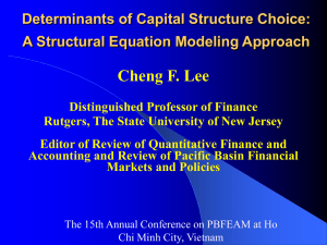 Determinants of Capital Structure Choice: A Structural Equation Modeling Approach