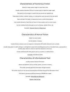 Characteristics of Humorous Fiction