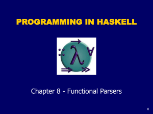 PROGRAMMING IN HASKELL Chapter 8 - Functional Parsers 0