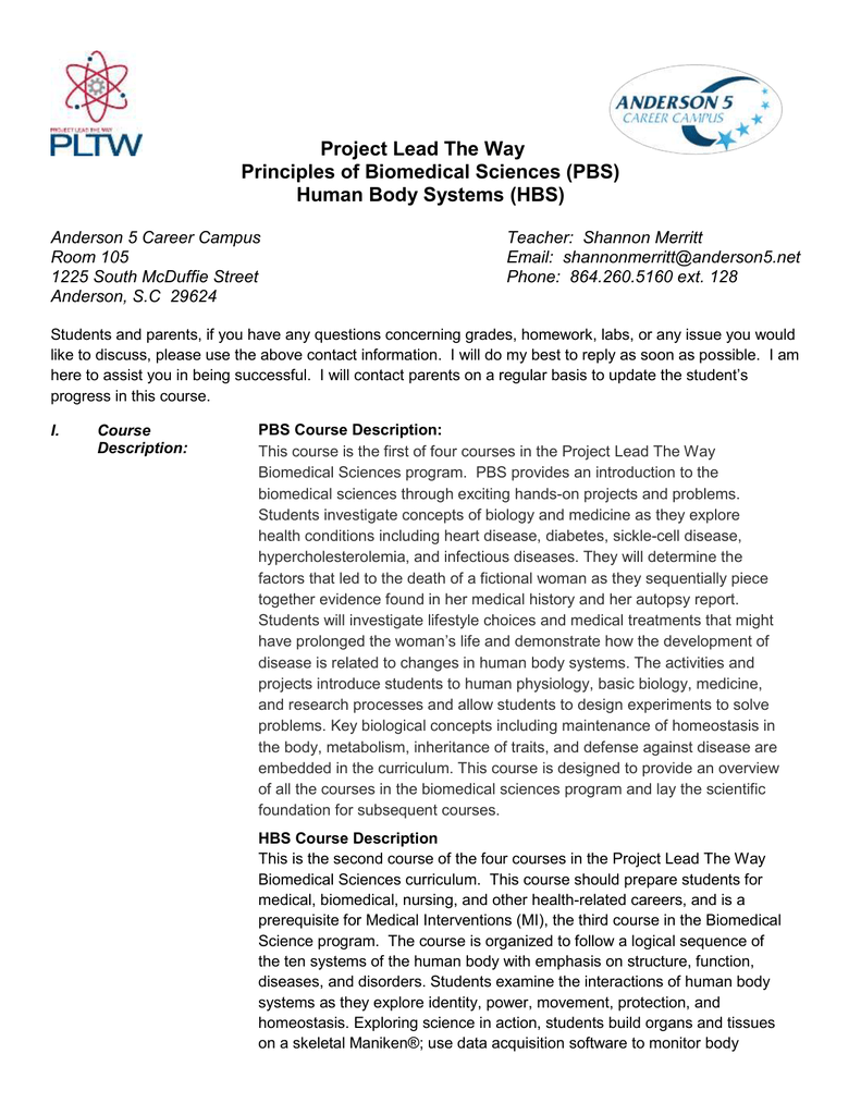 project lead the way curriculum Project lead the way the goal of the hosa-pltw partnership is to hosa--project lead the way biomedical science curriculum crosswalk hosa--project lead.