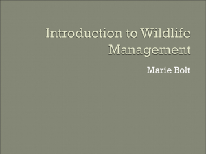 Introduction to Wildlife Management