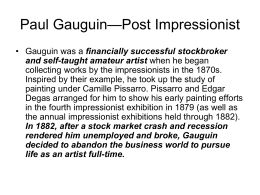 Paul Gaugin Post Impressionism