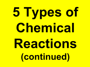 Notes - part 2b Types Chem Rxns (cont)edited