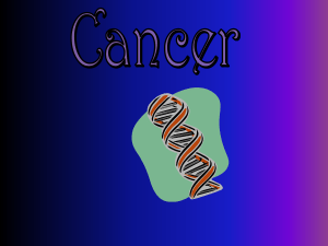 Topic 2 Cancer