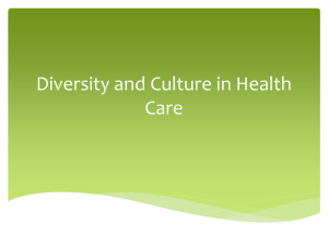 Diversity and Culture in Health Care