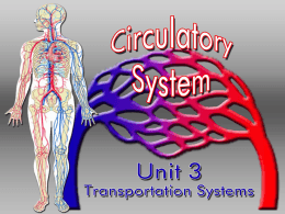 The CIRCULATORY System Unit 3 Transportation Systems