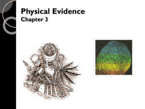 Physical (trace) evidence powerpoint notes