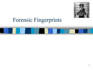 Forensic Fingerprints 1