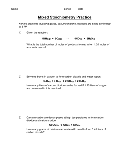 gas stoichiometry worksheet. Black Bedroom Furniture Sets. Home Design Ideas