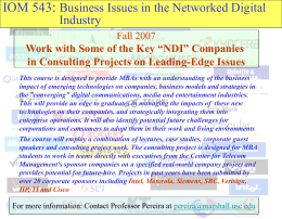 : IOM 543 Networked Digital Industry