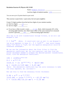 Recitation Exercise #3, Physics 142, 9-5-00  Name _______________________