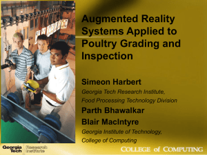 Augmented Reality Systems Applied to Poultry Grading and Inspection