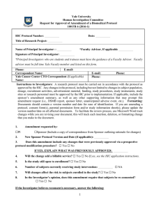 Request for Approval of Amendment Form