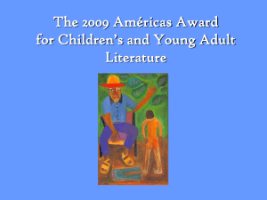 Am ricas Award for Children's and Young Adult Literature 2009