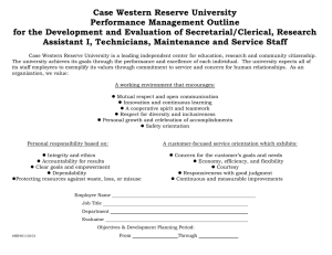 Secretarial/Clerical, Research Assistant I, Technicians, Maintenance and Service Staff