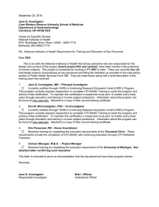 NIH Training Certification Letter template