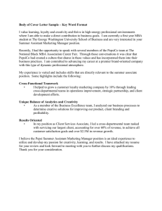 Keyword Format Cover Letter Sample