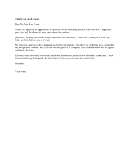 sample thank you letter after a grad school informational interview