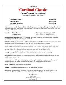 Cardinal Classic  Cross Country Invitational 28th Annual