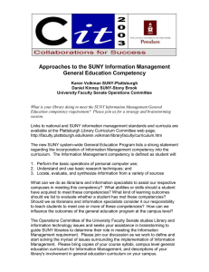 Approaches to the SUNY Information Management General Education Competency