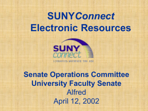 SUNY Connect Overview