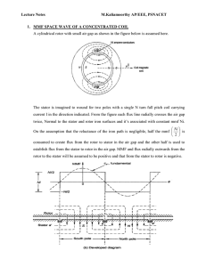 Calculation of air gap MMF for Concentrated,Distributed and Short pitched Winding arrangements