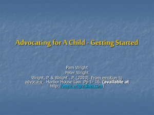 Advocating for Your Child - Getting Started