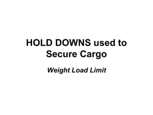 Hold Downs Used to Secure Cargo (PPT file)
