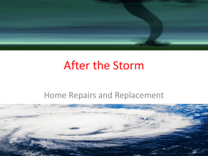 After the Storm Home Repairs and Replacement
