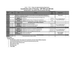 Housing-URP400- time table for the second semester 2015.docx