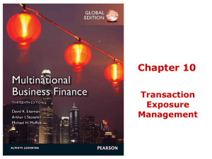 Chapter 10 Transaction Exposure Management