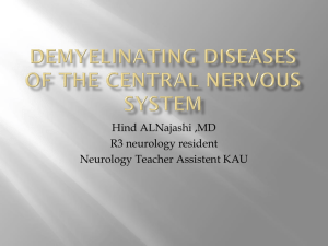 Demyelinating Diseases of the central nervous system.pptx
