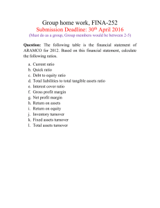 Group home work, FINA-252 Submission Deadline: 30 April 2016