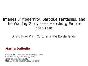 Images Modernity, Baroque Fantasies, and the Waning Glory Habsburg Empire