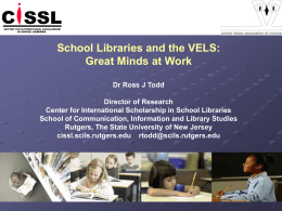 School Libraries and the VELS: Great Minds at Work