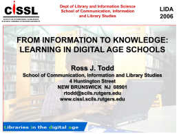From Information to Knowledge: Learning in Digital Age Schools