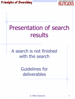 Presentation of search results.ppt