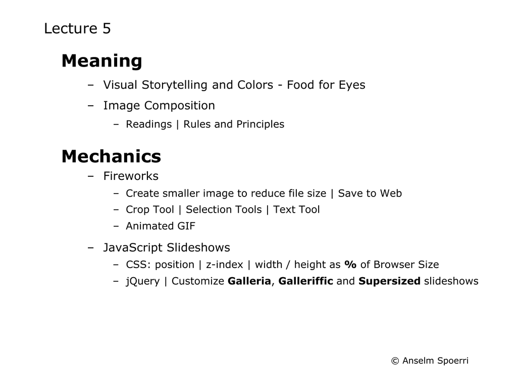 Meaning Mechanics Lecture 5 – Visual Storytelling and Colors - Food