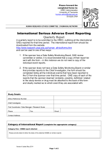 International Serious Adverse Event Report (58.6 KB)