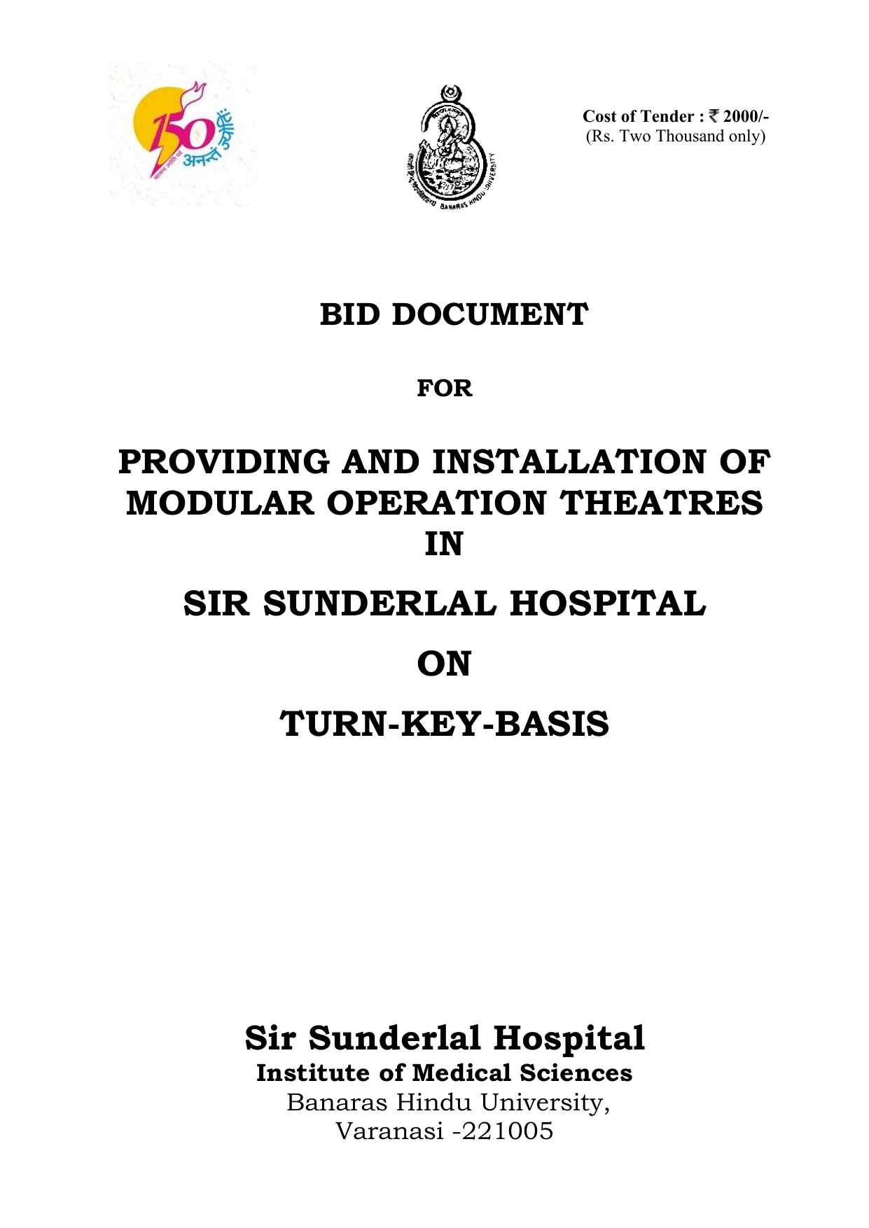 BID DOCUMENT FOR PROVIDING AND INSTALLATION OF MODULAR