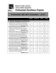 Professional LMS Self-Assessment (A1)