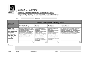 Domain I: Library Planning, Management and Evaluation– (LC5) Element