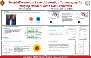 Swept-Wavelength Laser Absorption Tomography for Imaging Rocket Plume Gas Properties