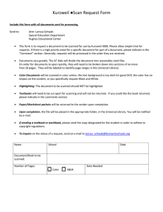 Scanning Request Form