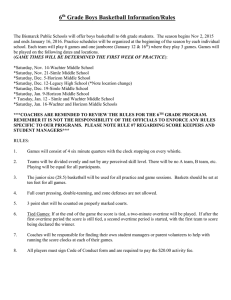 6 Grade Boys Basketball Information/Rules