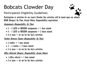 Clowder Day Participation Guidelines