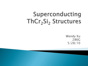 Superconducting ThCr 2 Si 2 structures