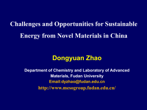 Sustainable Energy from Novel Materials  D. Zhao.ppt